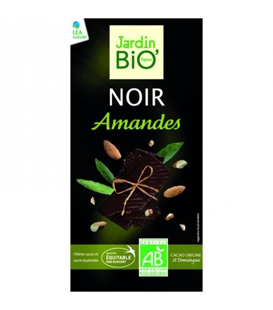 Chocolate negro con almendras JARDIN BIO 100 gr