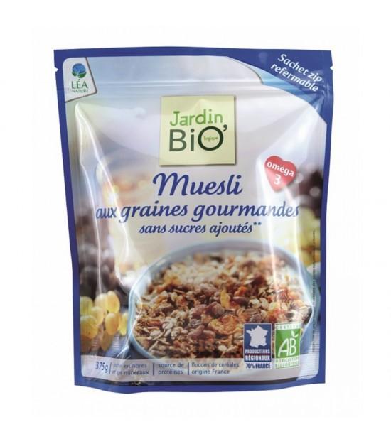 Muesli con semillas sin azucar JARDIN BIO 375 gr
