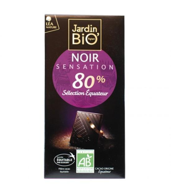 Chocolate 80% cacao seleccion Ecuador JARDIN BIO 100 gr