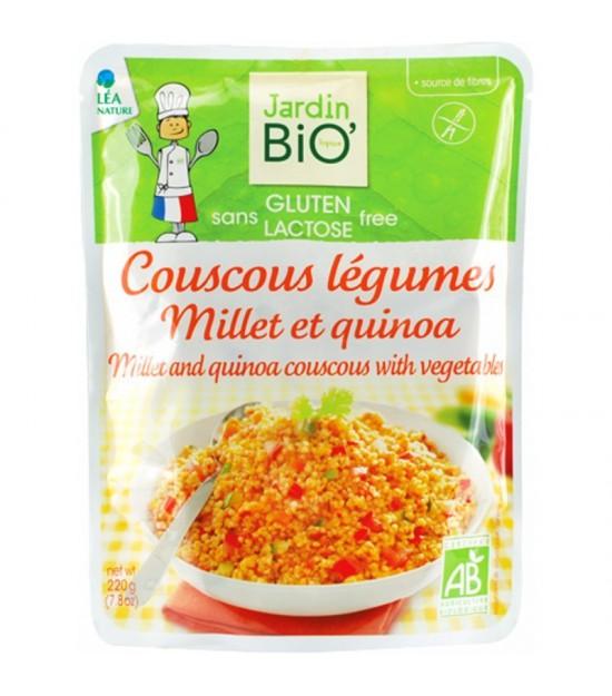 Plato preparado cuscus, verduras, mijo y quinoa sin gluten JARDIN BIO 220 gr