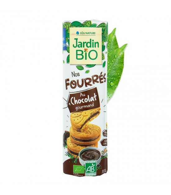 Galleta rellena chocolate JARDIN BIO 300 gr