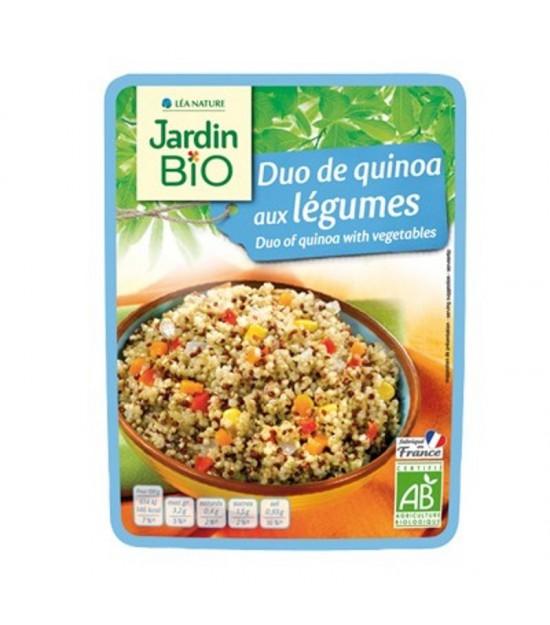 Plato preparado duo quinoa con verduras JARDIN BIO 250 gr
