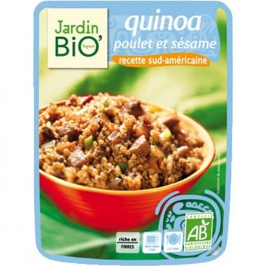Plato preparado quinoa, pollo y sesamo JARDIN BIO 250 gr
