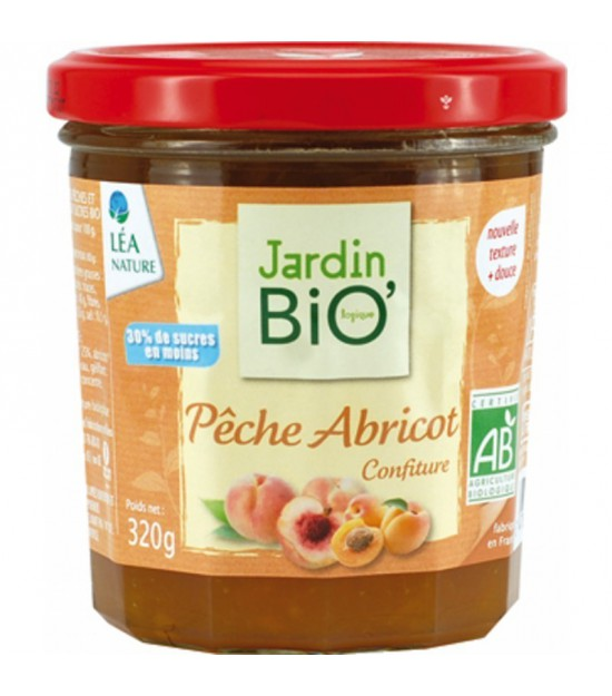 Mermelada melocoton y albaricoque JARDIN BIO 320 gr