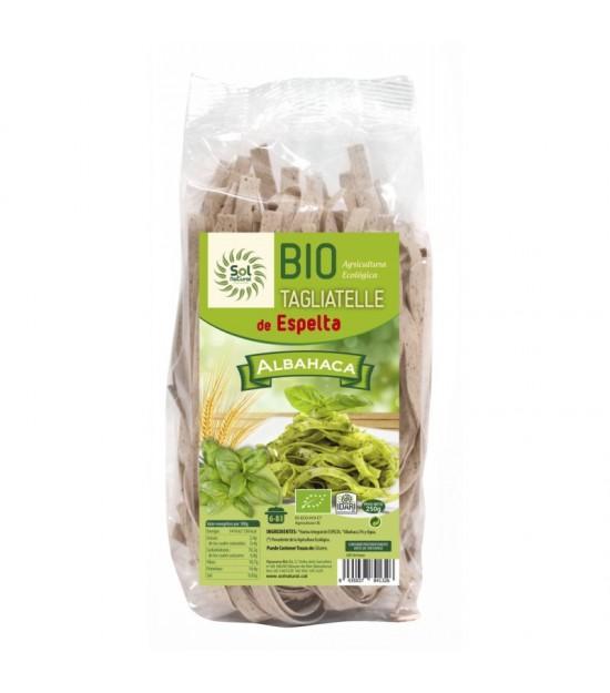 Tagliatelle espelta albahaca SOL NATURAL 250 gr BIO