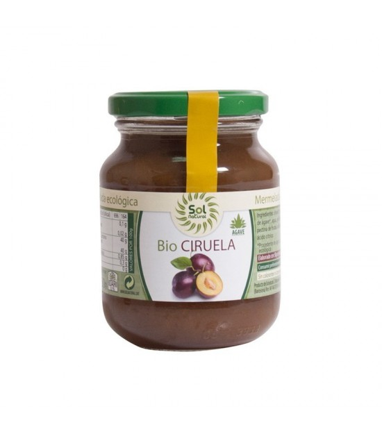 Mermelada ciruela agave SOL NATURAL330 gr BIO