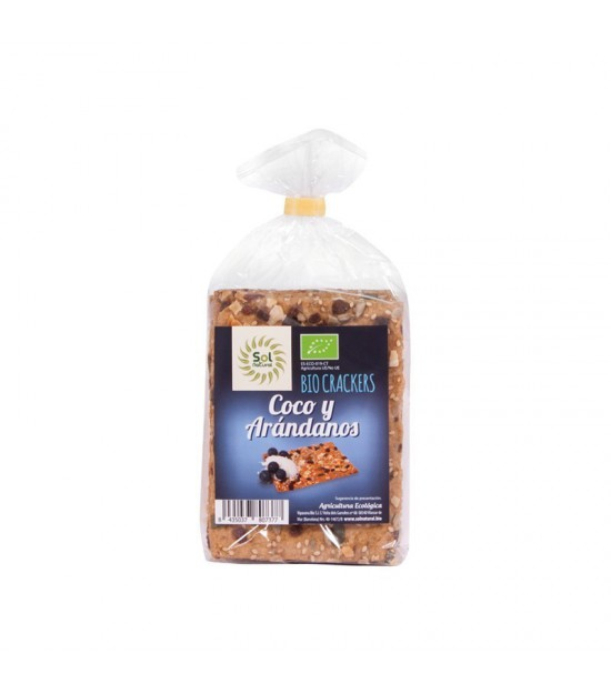 Cracker arandanos coco SOL NATURAL 200 gr BIO