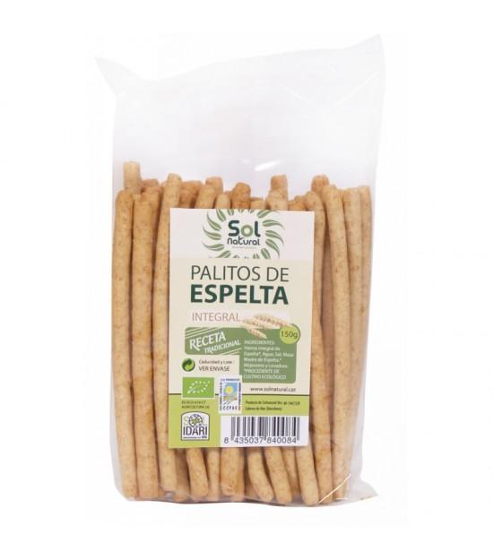 Palitos espelta integral bolsa SOL NATURAL 150 gr BIO