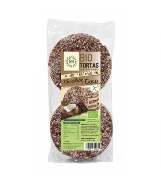 Tortas arroz chocolate coco (6 ud) SOL NATURAL BIO 100 gr BIO
