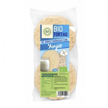 Tortas arroz yogur natural (6 ud) SOL NATURAL100 gr BIO