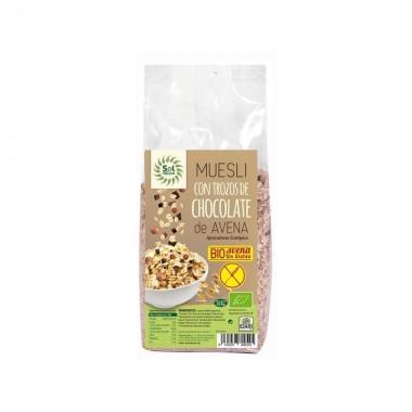 Muesli avena y chocolate sin gluten SOL NATURAL 425 gr BIO