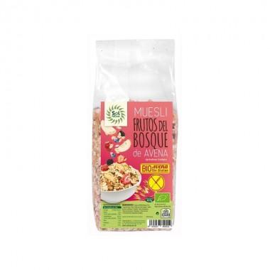 Muesli avena frutos del bosque sin gluten SOL NATURAL 425 gr BIO