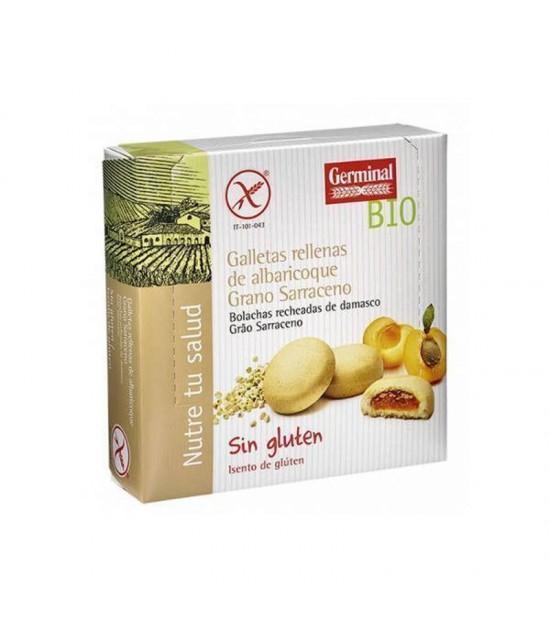 Galletas trigo sarraceno rellenas albaricoque GERMINAL 200 gr BIO