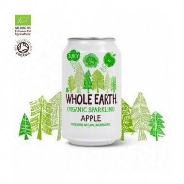 Refresco manzana sin azucar WHOLE EARTH 330 ml BIO