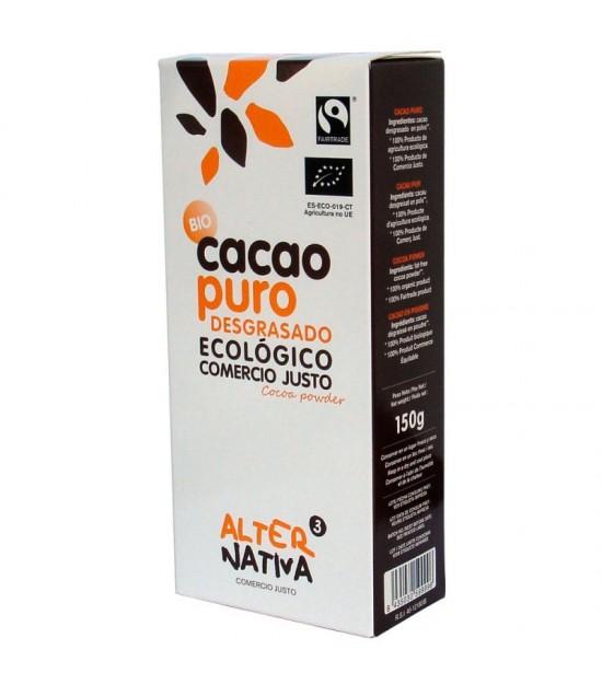 Cacao puro desgrasado ALTERNATIVA 3 (150 gr) BIO