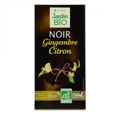 Chocolate negro con jengibre y limon JARDIN BIO 100 gr