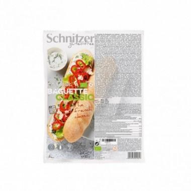 Pan Baguette clasica sin gluten SCHNITZER 2x180 gr BIO