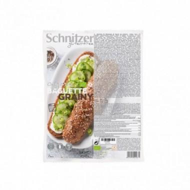 Pan Baguette semillas sin gluten SCHNITZER 2x160 gr BIO