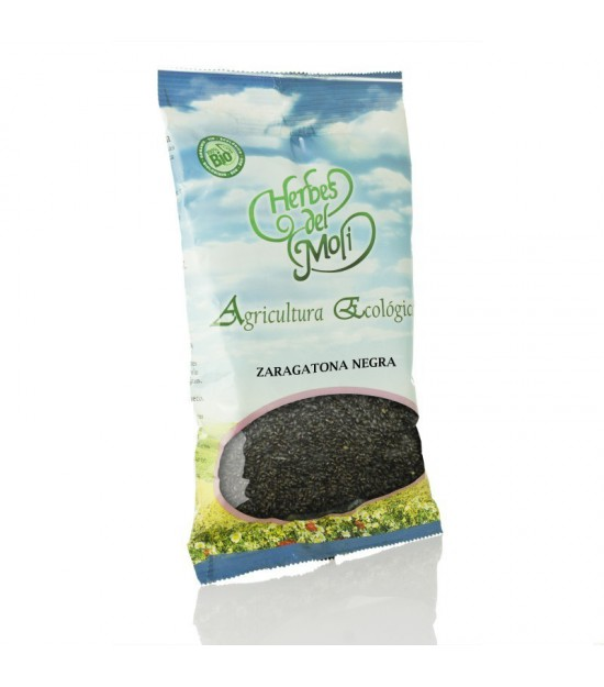 Bolsa zaragatona negra semillas HERBES DEL MOLI 80 gr ECO