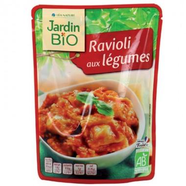 Plato preparado raviolis verduras JARDIN BIO 250 gr