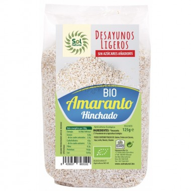 Amaranto hinchado desayuno SOL NATURAL 125 gr BIO