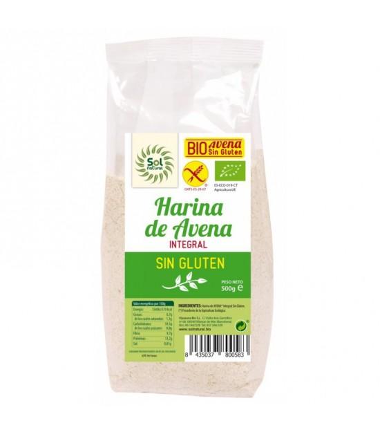 Harina avena integral sin gluten SOL NATURAL 500 gr BIO