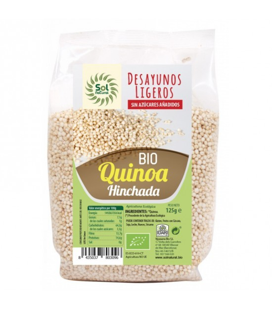 Quinoa hinchada desayuno SOL NATURAL 125 gr BIO