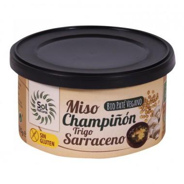 Pate vegano miso champiñon y trigo sarraceno s/g s/p SOL NATURAL 125 gr BIO