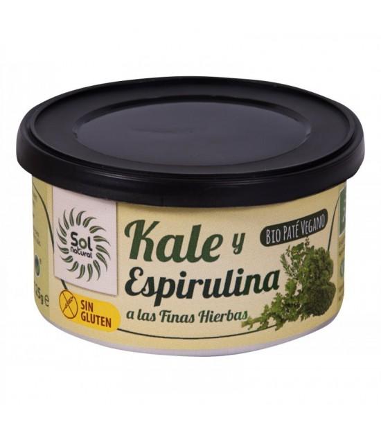 Pate vegano kale, espirulina y finas hierbas s/g s/p SOL NATURAL 125 gr BIO