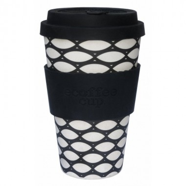 Vaso de bambu basketcase (blanco negro) Ref.111 ALTERNATIVA 3 (400 ml)