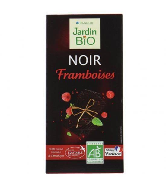 Chocolate negro con frambuesa JARDIN BIO 100 gr