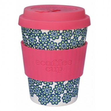 Vaso de bambu like totally (rosa flores azules) Ref.203 ALTERNATIVA 3 (340ml)