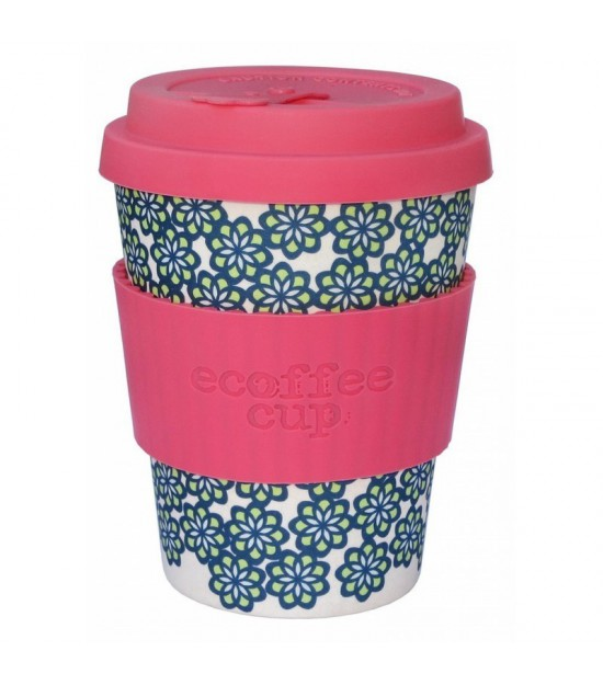Vaso de bambu like totally (rosa flores azules) Ref.203 ALTERNATIVA 3 (340ml)