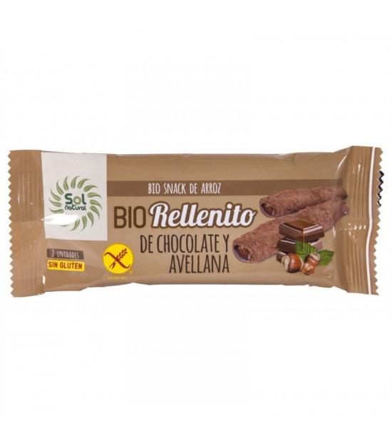 Rellenito chocolate y avellanas sin gluten SOL NATURAL 25 gr BIO
