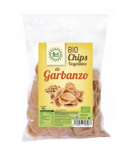 Chips garbanzo SOL NATURAL 80 gr BiO