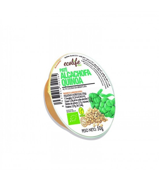 Pate alcachofa y quinoa ECOLIFE 50 gr BIO