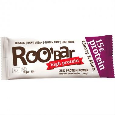 Barrita proteina maca cereza sin gluten ROOBAR 60 gr
