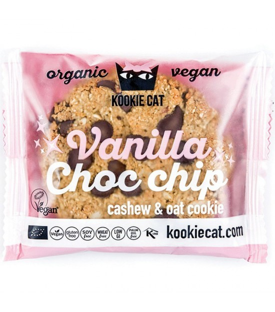 Galleta vainilla gotas choco KOOKIE CAT 50 gr BIO