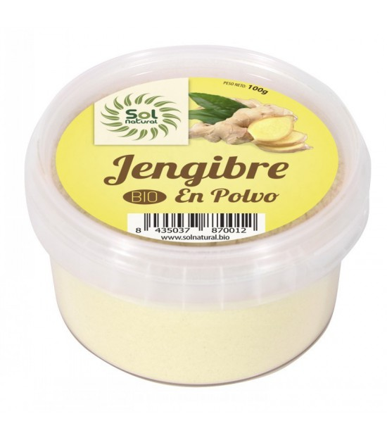 Jengibre en polvo SOL NATURAL 100 gr BIO