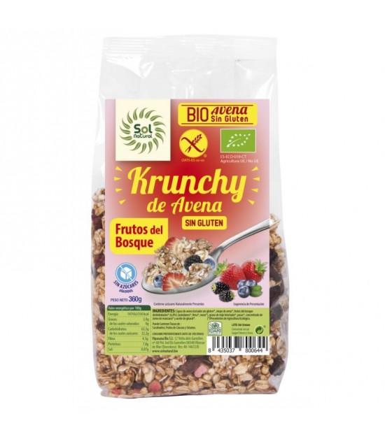 Krunchy avena frutos del bosque sin gluten SOL NATURAL 350 gr BIO