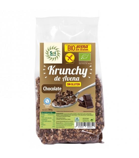 Krunchy avena chocolate sin gluten SOL NATURAL 350 gr BIO