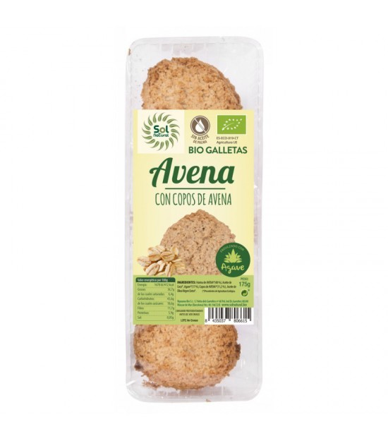 Galleta avena agave SOL NATURAL 175 gr BIO