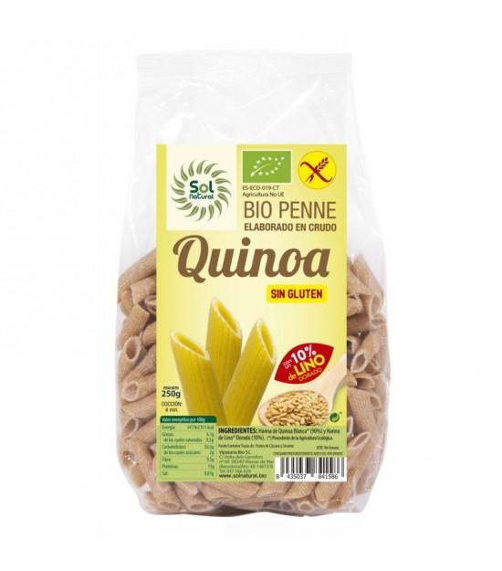Macarron quinoa con lino sin gluten 250 gr SOL NATURAL BIO