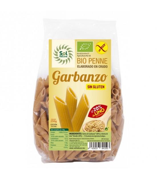 Macarron garbanzo con lino sin gluten SOL NATURAL 250 gr BIO