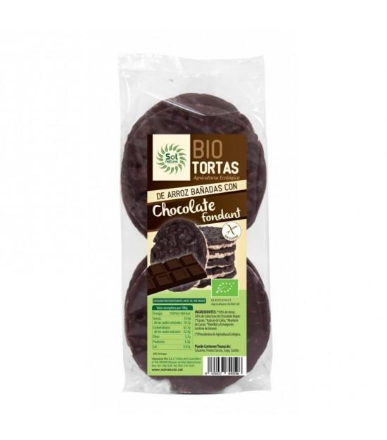 Tortas arroz bañadas en chocolate fondant SOL NATURAL 100 gr BIO