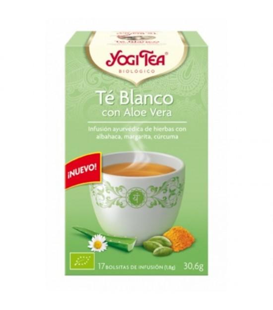 Yogi tea te blanco con aloe vera 17 bolsas BIO