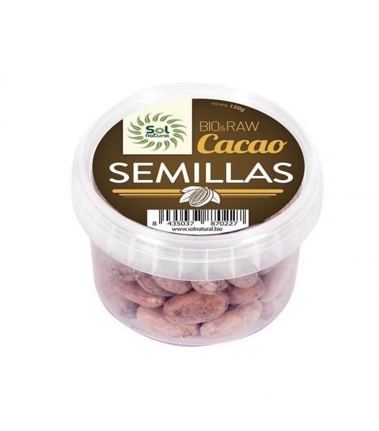 Cacao semillas crudas raw SOL NATURAL 150 gr BIO