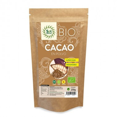 Cacao polvo crudo raw SOL NATURAL 250 gr BIO