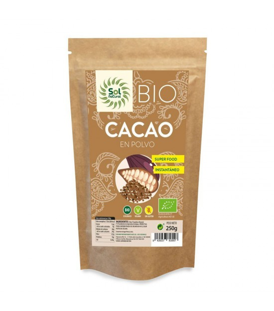 Cacao polvo crudo raw SOL NATURAL 250 gr BIO