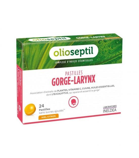 Preparado laringe garganta miel limon OLIOSEPTIL 24 pastillas
